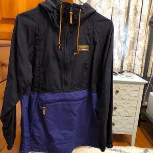 NEW NEVER WORN LL Bean Anorak Rain Jacket